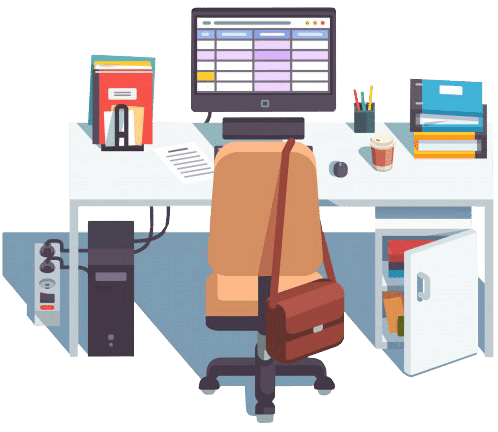 home-or-office-desk-with-casters-chair-computer_3446-447-2